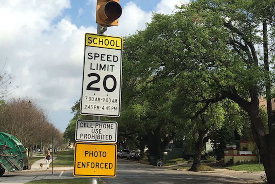 school zone safety speed limit signs