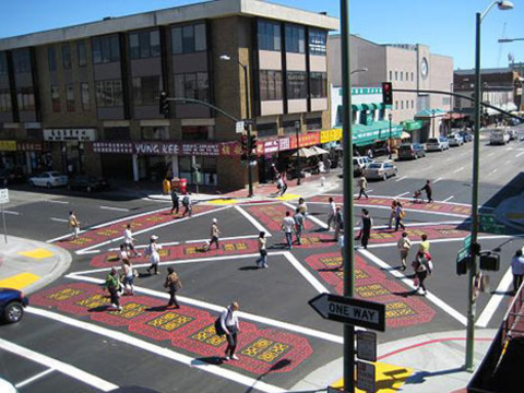 the barnes dance intersection safety pedestrian city intersection technology