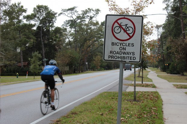 bicycles prohibited from roadways and dangerous bicycling roadways