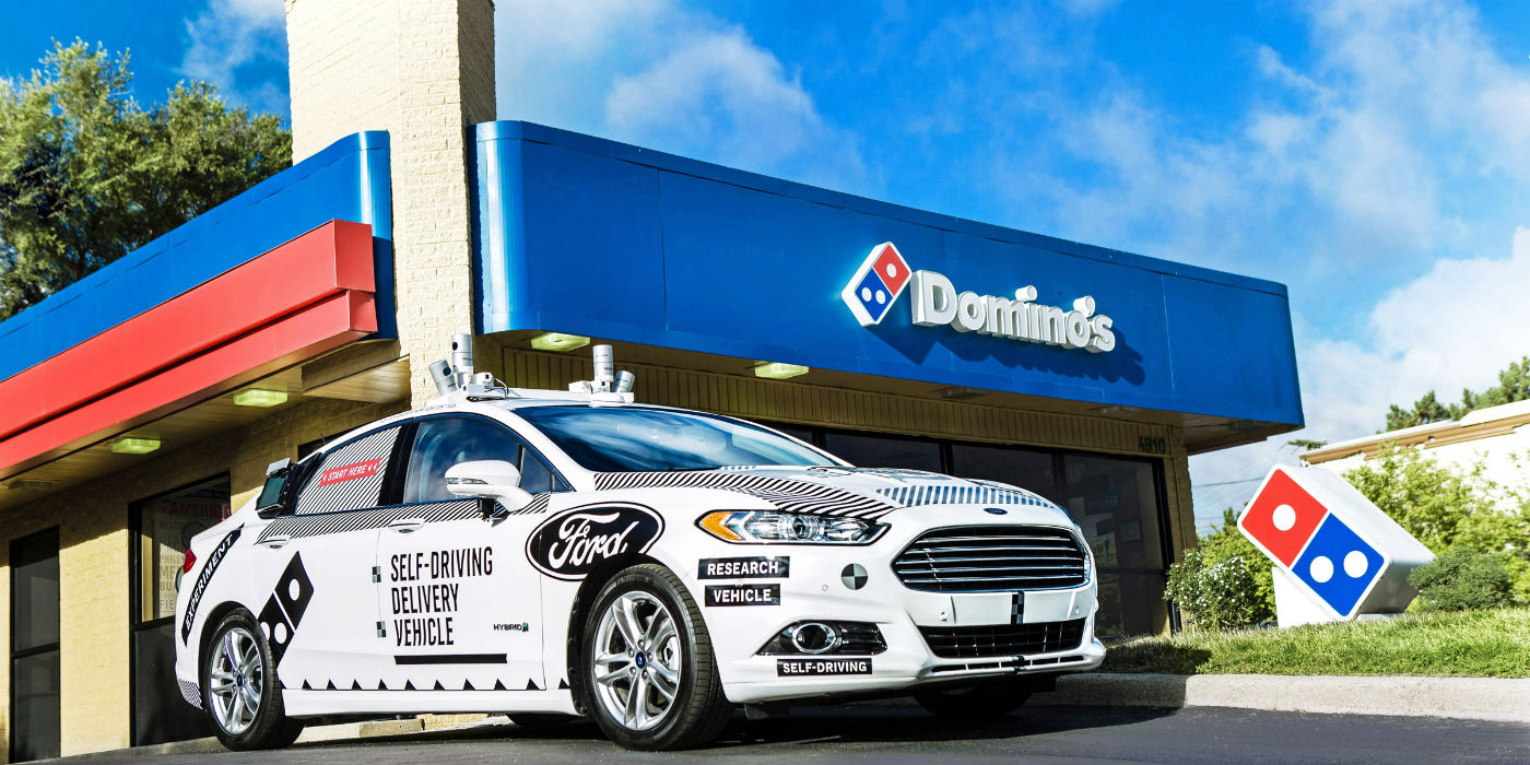 ford dominos autonomous pizza delivery autonomous car technology self driving cars