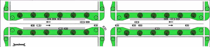 pedestrian safety city intersections neckdown intersection safety technology