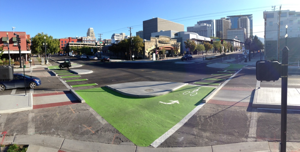 protected intersections city intersection pedestrian safety intersection technology