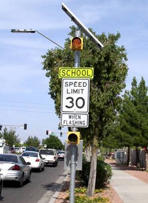 school zone overhead flashers school zone safety improvement tips