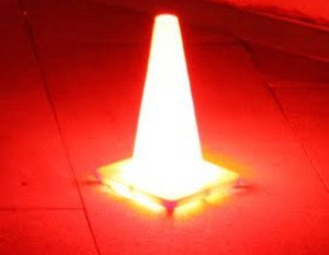 traffic cone light