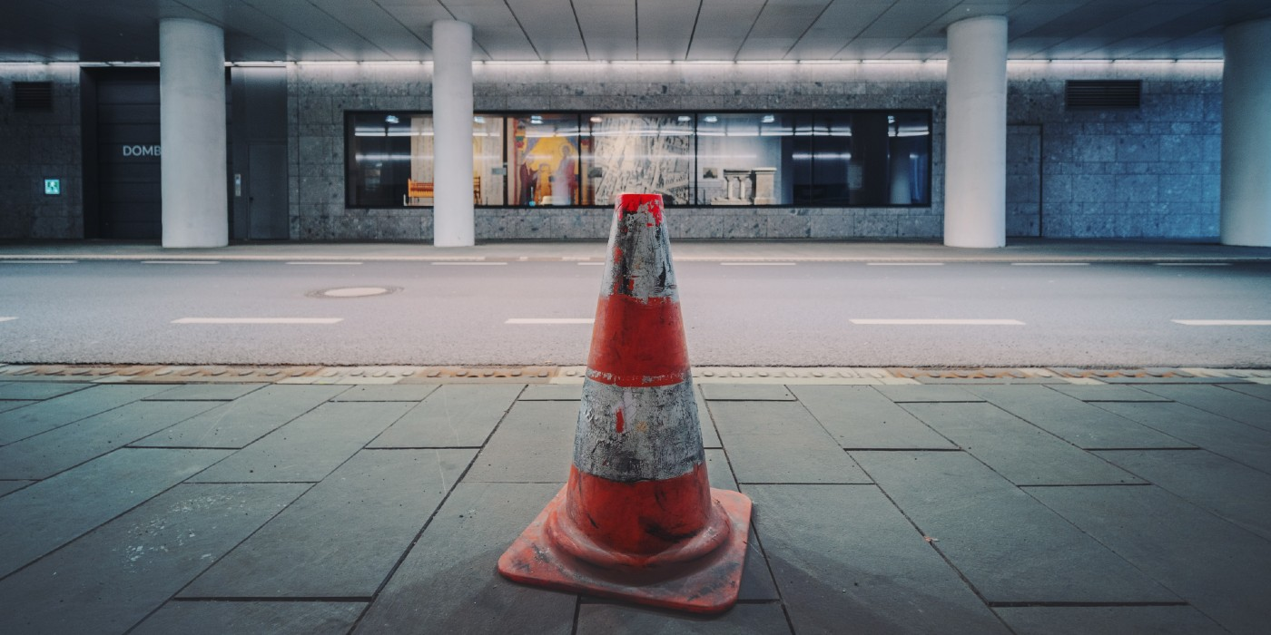traffic cone science placement roadway traffic safety store