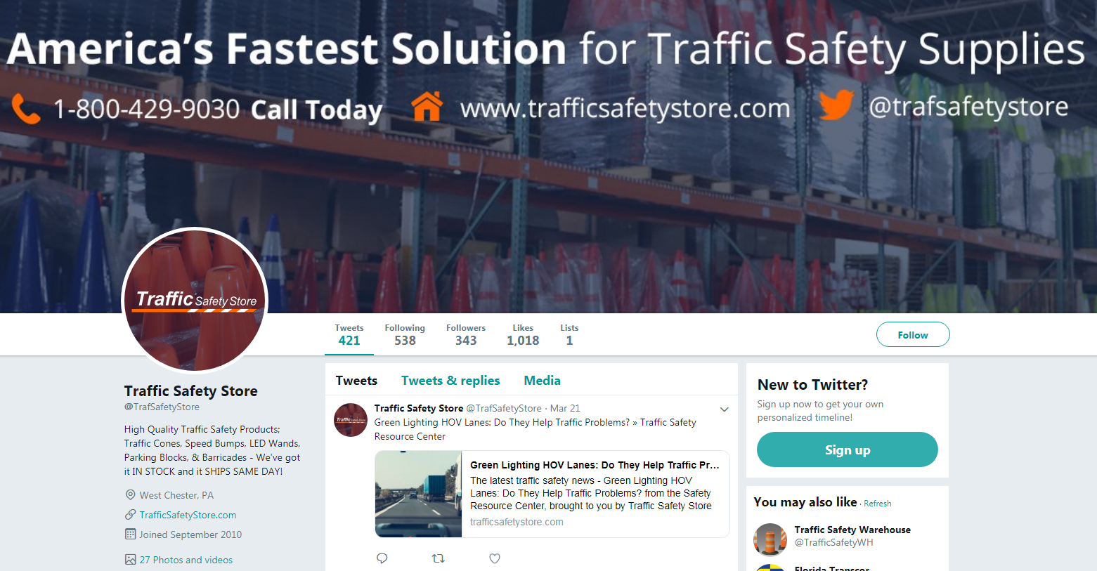 traffic safety store twitter
