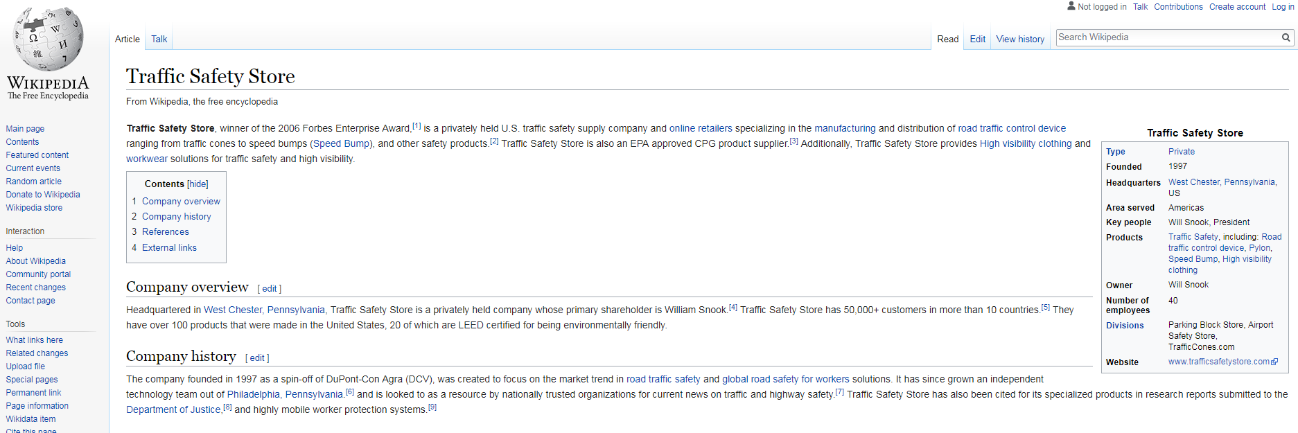 traffic safety store wikipedia