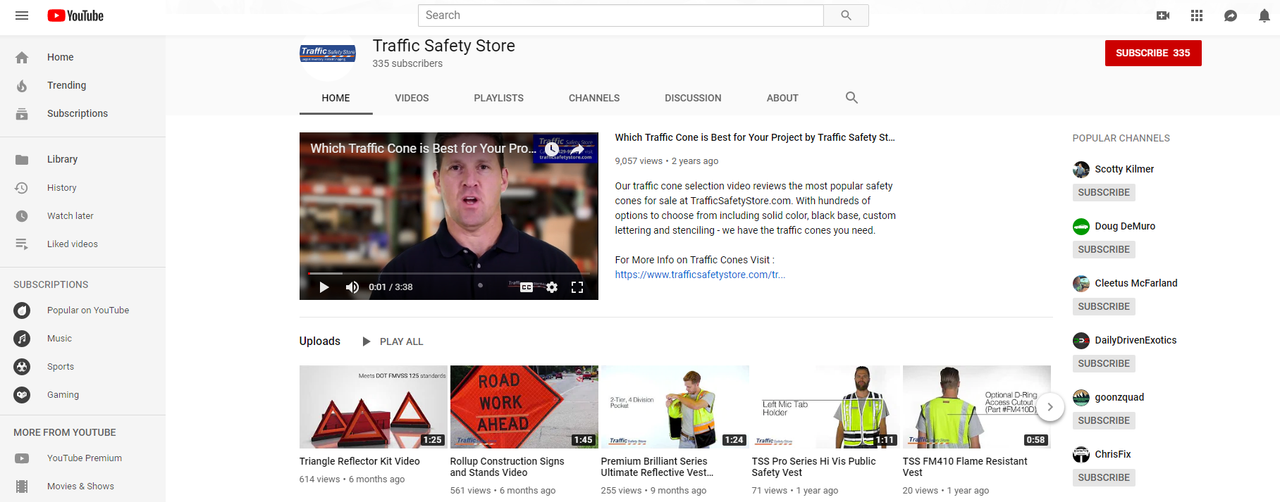 traffic safety store youtube