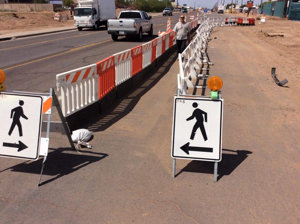 types of barricades plastic pedestrian barricades