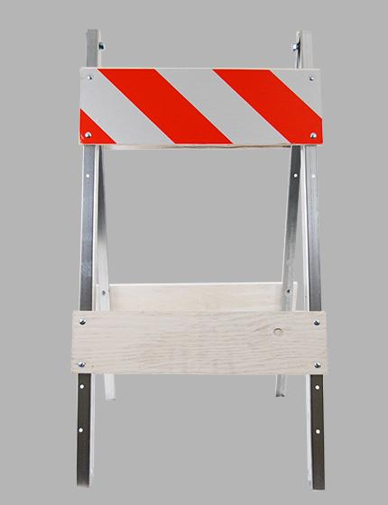 Economy Wood And Steel Folding Barricade Traffic Safety