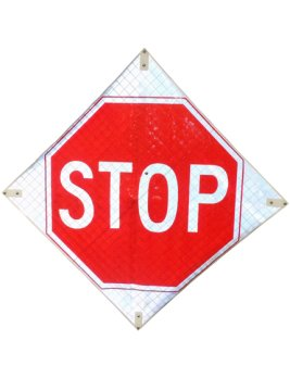 Reflective Roll-Up STOP sign