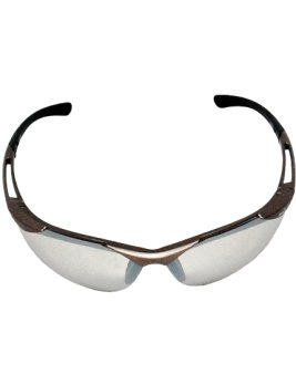Champagne Mirror Safety Sunglasses