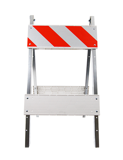 Economy Steel & Plastic Folding Traffic Barricade ...