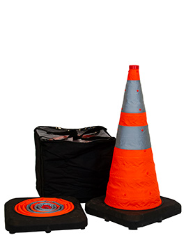 ROAD SAFETY CONES POP UP COLLAPSIBLE CAR TRAFFIC PULL OUT EMERGENCY WARNING CONE