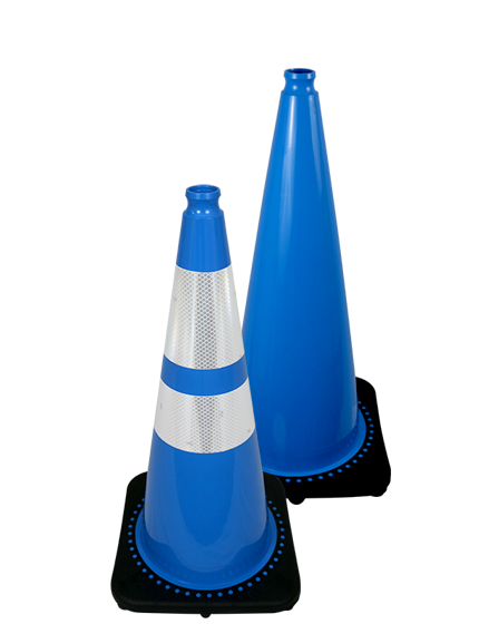 "28"" Light Blue Traffic Cone"