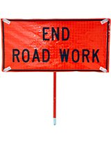 End Road Work Roll-Up Signs
