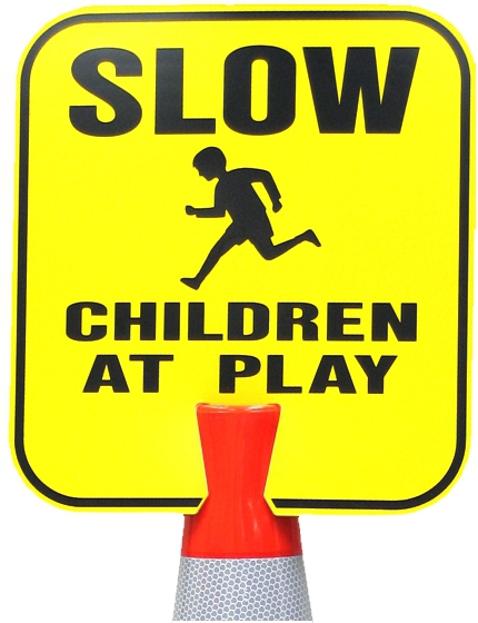Double Sided, Slow Children At Play Sign