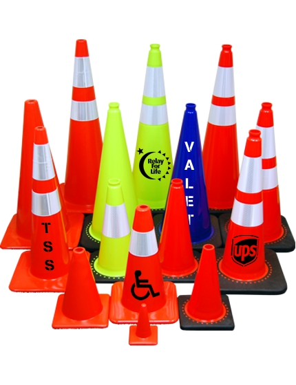 Orange & Lime Traffic Cones