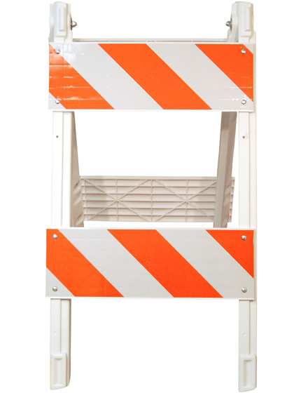 Construction safety barricades